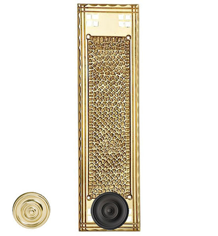 12 Inch Craftsman Style Push Plate in Several Finishes