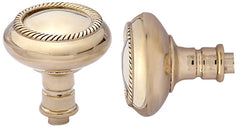 Solid Brass Georgian Roped Spare Door Knob Set