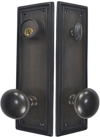 Traditional Square Single-Door Deadbolt Entryway Set