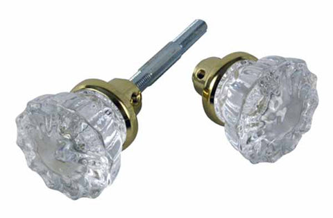 Fluted Glass Spare Door Knobs