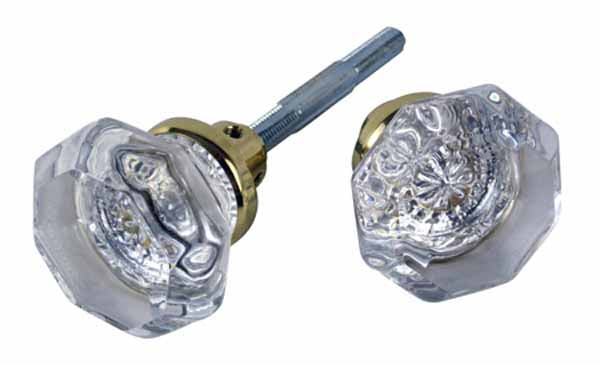 Octagon Glass Spare Door Knobs