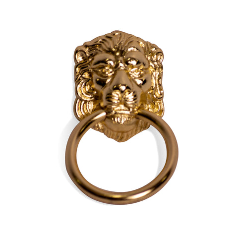 2 1/4 Inch Lion Drop Drawer Ring Pull