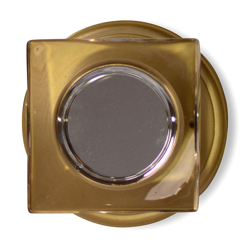 Square Crystal Door Knob with Classic Plate (Several Finishes)