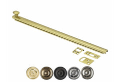 12 Inch Solid Brass Surface Bolt