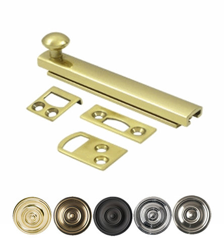 4 Inch Solid Brass Surface Bolt
