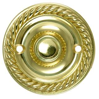 2 1/3 Inch Diameter Solid Brass Doorbell Button