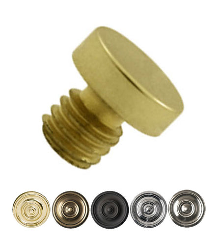 1/8 Inch Solid Brass Button Tip Cabinet Finial
