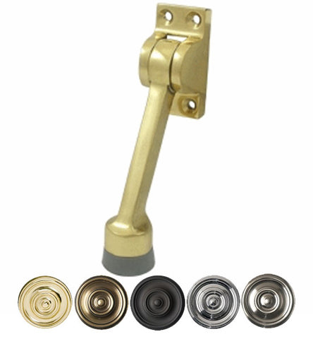 4 Inch Solid Brass Kickdown Door Holder