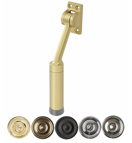7 Inch Solid Brass Kickdown Door Holder