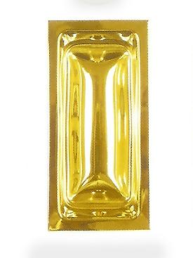 Rectangular Stamped Brass Flush Pull