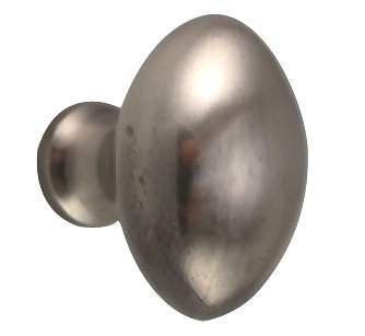 1 1/4 Inch Traditional Solid Brass Egg Knob