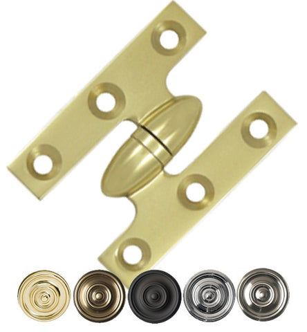 2 Inch x 1 1/2 Inch Solid Brass Olive Knuckle Hinge