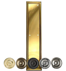 15 Inch Solid Brass Framed Push Plate