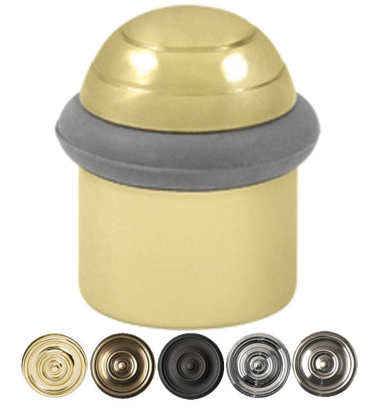 Floor Mounted Bumper Door Stop With Dome Cap in Several Finishes