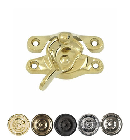 15/16 X 2 5/8 Inch Solid Brass Window Sash Lock