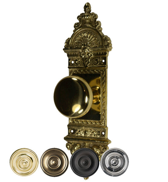 European Door Set With Round Brass Knob
