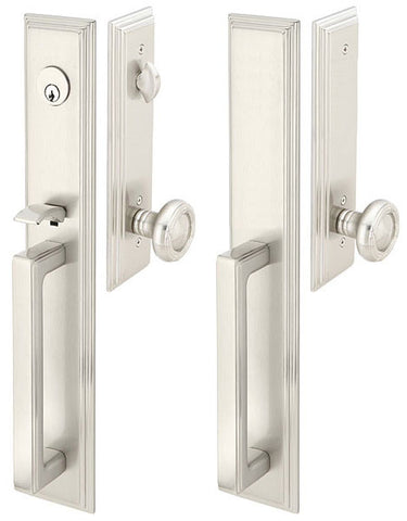 Solid Brass Melrose Style Double Door Entryway Set