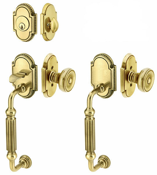 Solid Brass Knoxville Style Double Door Entryway Set
