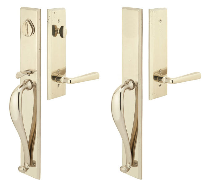 Solid Brass Rectangular Full Length Style Double Door Entryway Set