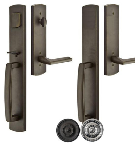 Solid Brass Brighton Style Double Door Entryway Set