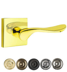 Emtek Solid Brass Luzern Lever With Square Rosette (Several Finishes)