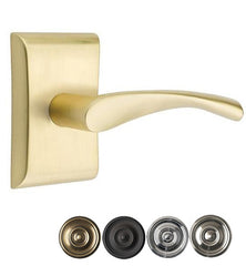 Emtek Solid Brass Triton Lever With Neos Rosette