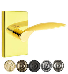 Emtek Solid Brass Mercury Lever With Modern Rectangular Rosette
