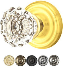 Crystal Astoria Door Knob Set With Regular Rosette