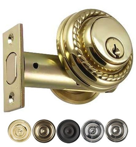 Solid Brass Keyed Entry Deadbolt Several Finishes Available