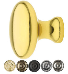 1 Inch Solid Brass Providence Cabinet Knob