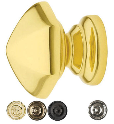 1 3/8 Inch Solid Brass Hexagon Cabinet Knob