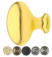 Emtek Solid Brass Egg Cabinet & Furniture Knob