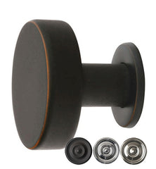 Emtek Round Solid Brass Cadet Cabinet & Furniture Knob