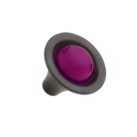 1 1/4 Inch Amethyst Glass Sapphire Style Glass Knob