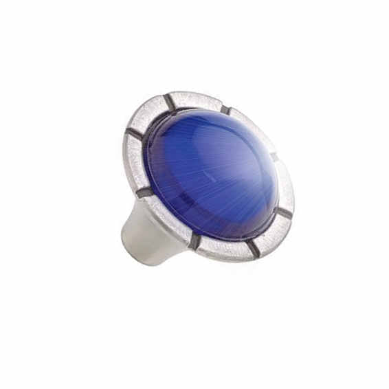Modern Dark Blue Glass Sapphire Style Glass Cabinet & Furniture Knob