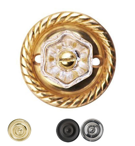 Round Rope Clear Hexagon Crystal Cabinet & Furniture Knob