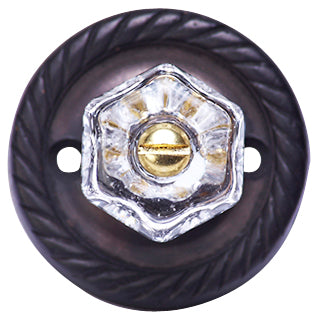 1 Inch Clear Hexagon Crystal Cabinet Knob