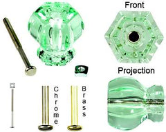 1 1/2 Inch Depression Glass Knobs