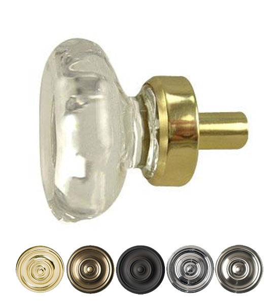 1 Inch Crystal Octagon Old Town Cabinet Knob