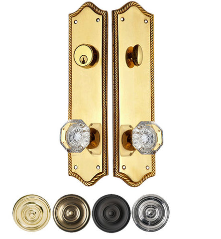 Georgian Roped Arched Single Door Deadbolt Entryway Set