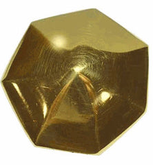 1 3/8 Inch Solid Brass Heptagonal Cabinet Knob