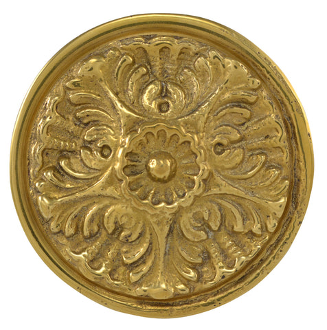 Solid Brass Victorian Floral Cabinet & Furniture Knob