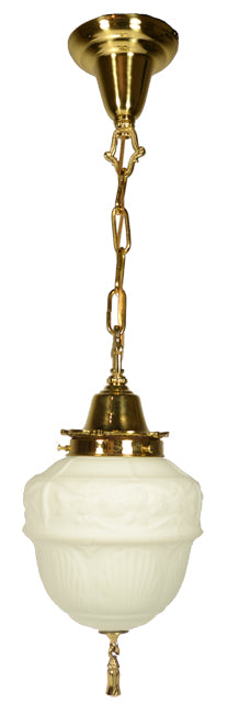 27 3/4 Inch Colonial Revival Style Chain Pendant Light