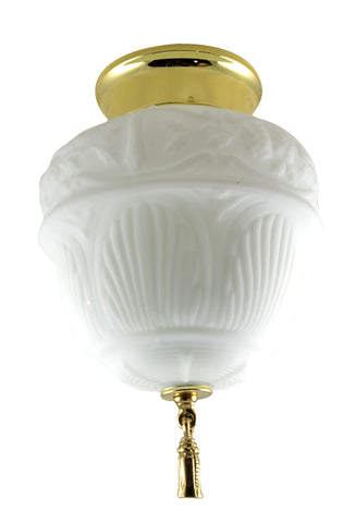 Glass Colonial Revival Style Light Fixture