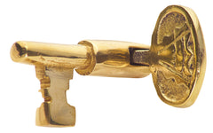 2 1/8 Inch Solid Brass Pull Pivoting Skeleton Key