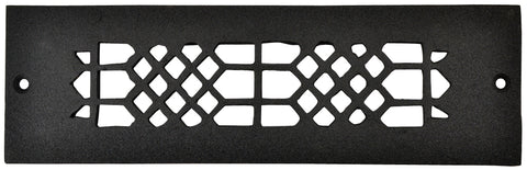 Black Iron Grille: 10 Inch x 2 Inch