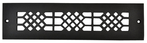 Black Iron Grille: 12 Inch x 2 Inch