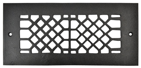 Black Iron Grille: 10 Inch x 4 Inch
