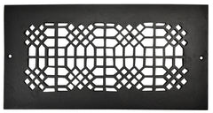 Black Iron Grille: 14 Inch x 6 Inch
