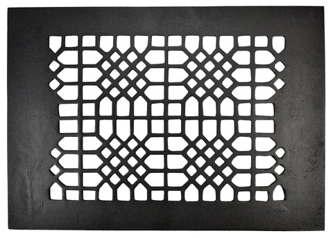 Black Iron Grille: 12 Inch x 8 Inch